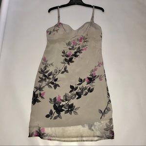 BCBG- MAXAZRIA COLLECTION-SILK Floral Print Dress